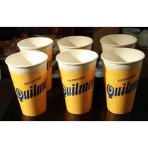 Lote X 6 Vasos Carton - Cerveza Quilmes -