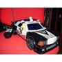 Navidad Auto Antiguo De Policia Gigante A Pila Con Luces