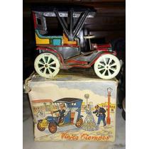 Antiguo Auto Chapa Funcionando Nuevo En Caja