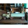 Antiguo Juguete De Chapa Camión Con Acoplado Movimek