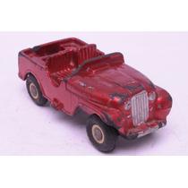 Jeep N°9 Rojo Metalizado Duravit De Juguete Antiguo