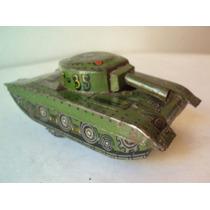 Tanque Guerra Militar Lata Litogafiada Juguete Antiguo