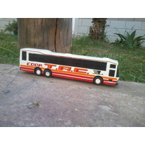 Antiguo Colectivo Micro Omnibus Bus Artesanal En Resina 1.50