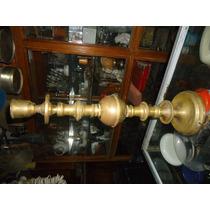 Velador De Bronce Antiguo Para Restaurar.altura 51 Cm