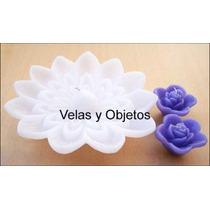 Flores Flotantes Para Piscinas, Velas Flotantes, Velas 21cm