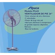Ventilador De Pie Industrial Alpaca 26´´ 66cm 200w Potente