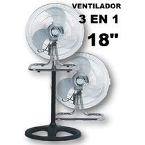 Ventilador Industrial 3 En 1 Paleta Metálica Turbo Pared Env