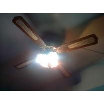 Ventilador De Madera Con Aplique De Luz