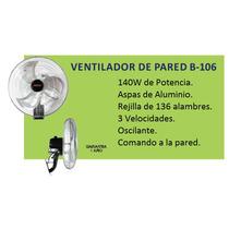 Ventilador De Pared 20 Industrial 140w Paletas Aluminio