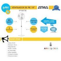 Ventilador Atma De Pie 8073e