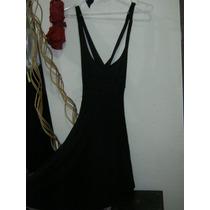 Liquido Vestido Noche Corto Negro Talle M Sans Doute + Envio