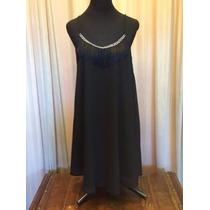 Vestido Tinica Con Breteles Y Flecos - Divino