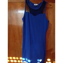Vestido De Noche Azul Tubo