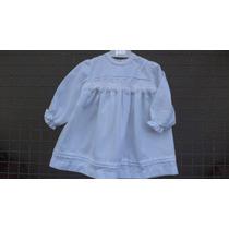 Vestidos De Viyela Blanca Para Bebas -primeras Medidas-