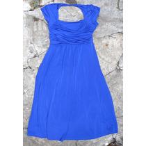 Vestido Tela Sintetica Color Azul