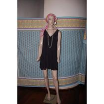 Maria Cher Vestido Contraola Color Negro