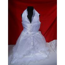 Vestido Nena Fiesta Blanco Doble Falda Marylin Ii 5/8 Años