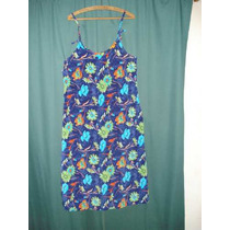 Vestido Solera Talle 3 100 Cm De Sisa Azul Floreada