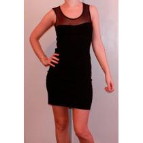 Vestido Negro Sexy Con Transparencia