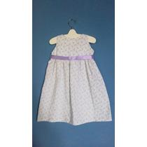 Vestido Para Nena Romántico Y Con Lazo - 3 Años