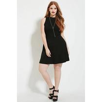 Vestido Negro Casual Forever 21 Talle Especial!