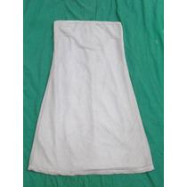 Vestido Strapless Con Lurex Forrado Marca Rosh Talle S M