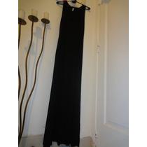 Vestido Nuevo Largo Con Tajos De Modal C Lycra Talle L De Ml