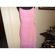 Vestido Largo De Noche Rosa
