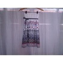 Vestido Corto De Gasa- Strapples- Talle S
