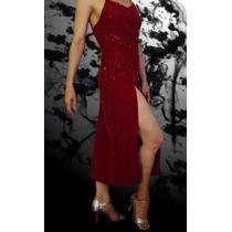 Vestido Rojo Tango Show Fiesta