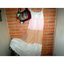 Vestido Vestir Largo Tricolor Importado