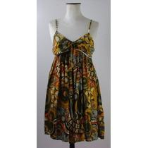 Vestido Made In India-gasa-muy Fresco- Estampa Geométrica