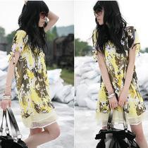 ¡ Hermoso! Mini Vestido De Gasa Floreado Forrado En T: M.