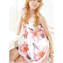 ¡¡ Hermoso!! Vestido Corto De Gasa Forrado Globito T: M.