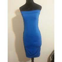 Vestido Straples Azul Francia De Mujer