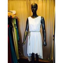 Vestido De Gasa Irregular Con Espalda Abiera - Elegantisimo