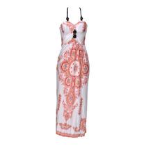 Vestido Largo Estampado, Brishka, V-0005