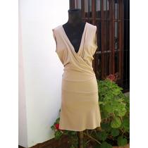 Vestido De Muselina Con Jersey Grueso Espectacular Corte M