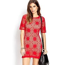 Vestido Al Crochet Tipo Cubremalla Forever 21 - Talle M