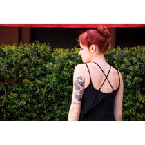 Vestido Negro Largo, Fiesta O Casual Última Moda! S A Xl