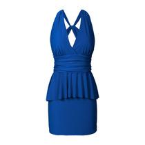 Vestido De Mujer, Fiesta, Con Volado, Brishka, M-0012