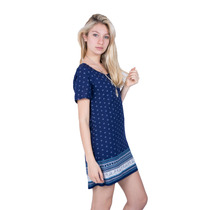 Remeron ,vestido De Fibrana Con Guarda-axioma