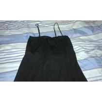 Vestido De Fiesta Negro De Jersey. Talle 5