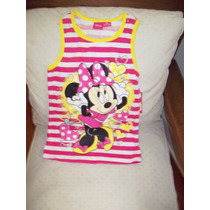 Disney Minnie Mouse Orig.vestido Musculosa C/minnie -brillos