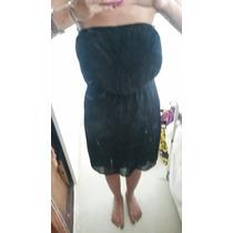 Vestido Zara Trf Straples Tablas Negro Fino Corto