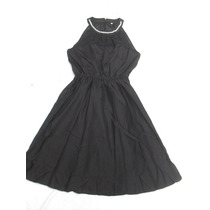 Elegante Vestido Mujer Negro Con Collar Nuevo Talle M