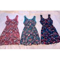 Vestidos Floreados Cortos Con Lazo En La Espalda