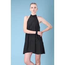Vestido Negro Solero Corte Top 90s Drole