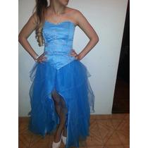 Vestido Turquesa De 15 Años Talle M