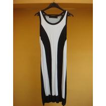 Vestido Maria Vazquez Estirable Black And White